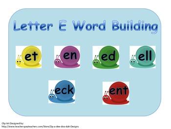 Building and Blending Short E Words