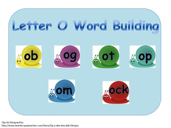 Building and Blending Short O Words