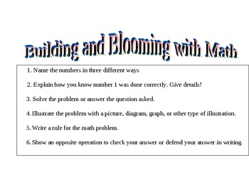 Building and Blooming with Math
