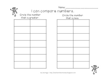 Building and Comparing Teen Numbers, First grade math