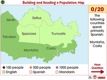 Building and Reading a Population Map - Activity - PC Gr. 6-8