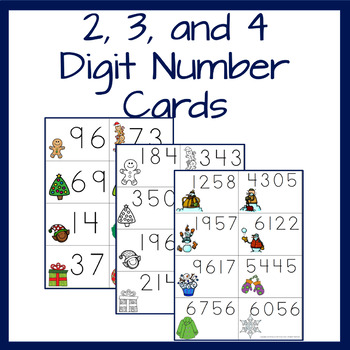 Building numbers with Place Value- Christmas and Winter themed