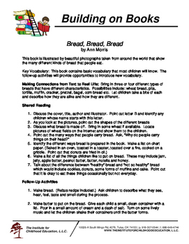 Building on Books: Bread, Bread, Bread by Ann Morris