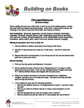 Building on Books: Chrysanthemum by Kevin Henkes