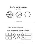 Building shapes (black and white) - Kindergarten Math mini book (K.G.B. 6)