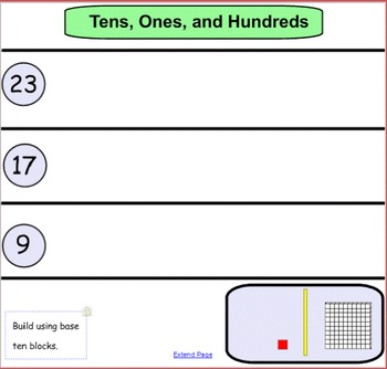 Smart Notebook: Building tens, ones, and hundreds