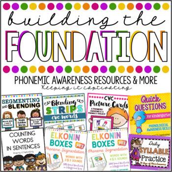 Building the Foundation Bundle {Phonemic Awareness Resources & More!}