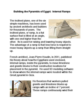 Building the Pyramids of Egypt: Internal Ramps