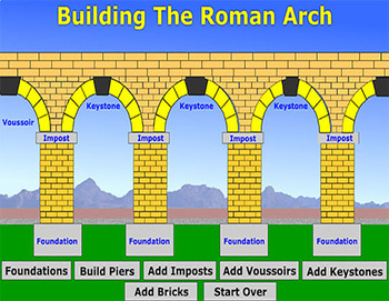 Animation of Building the Roman Arch - Bill Burton
