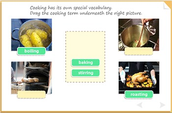 Building vocabulary for cooking