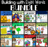 Building with Sight Words Literacy Centers for Kindergarten Bundle