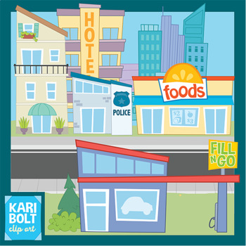 places clipart clip buildings community bolt kari building station place town police cliparts she pool library restaurant movie mall theater