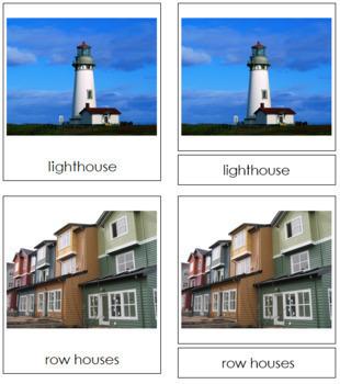 Buildings: 3-Part Cards
