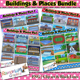 Buildings Clip art Bundle