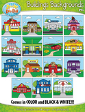 Buildings Exterior Background Scenes Clipart {Zip-A-Dee-Doo-Dah Designs}