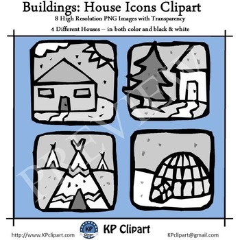 Freebie Buildings House Icons Clipart