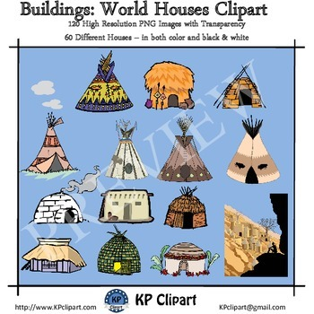 Buildings Houses of the World Clipart