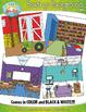 Buildings Interior Background Scenes Clipart {Zip-A-Dee-Doo-Dah Designs}