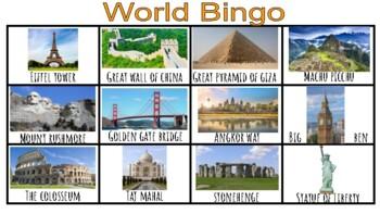 Buildings Unit Bingo (Creative Curriculum)