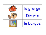 Buildings and Structures in French Flash Cards