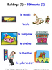 Buildings and Structures in French Matching Activities