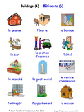 Buildings and Structures in French Word searches / Wordsearches