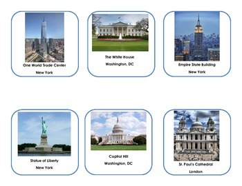 Buildings around the World Cards