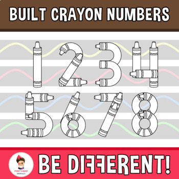 Built Crayon Numbers Clipart