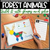 Build It With Shapes and Solve! Forest Animals Pattern Block Puzzles