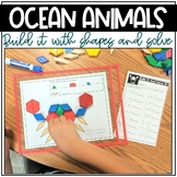Build It With Shapes and Solve! Ocean Animals Pattern Block Puzzles