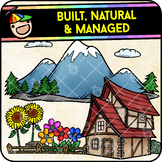 Built, Natural & Managed Environments Clipart Bundle {by The Man-Child}
