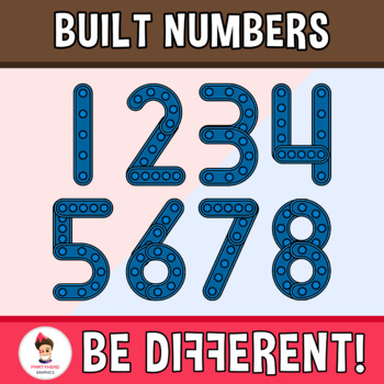 Built Numbers Clipart