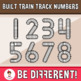 Built Train Track Numbers Clipart
