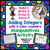 Built it, Draw it, Write it, Solve it Adding Integers Manipulatives Activity