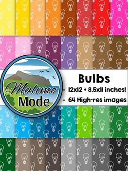 Bulb - Digital Papers Package (12x12 AND 8.5x11 inches)