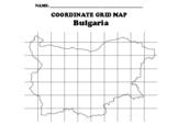 "Bulgaria  ""Coordinate Grid"" Map Blank"