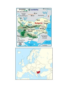 Bulgaria Map Scavenger Hunt