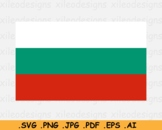 Bulgaria National Flag, Bulgarian Banner, SVG Cricut Print - EPS AI PNG JPG PDF