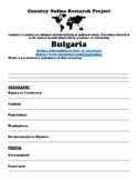 Bulgaria Research Project