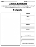 Bulgaria UDL Country Brochure Worksheet, Webquest and Summary
