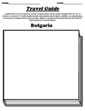 """Bulgaria Worksheet """"Create your own Travel Guide"""" with WEBQUEST"""
