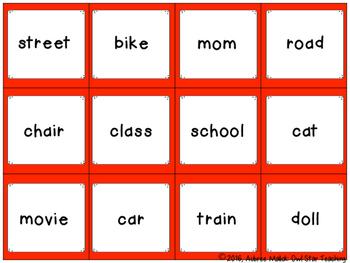 Buliding Sentences Literacy Center
