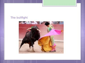 Bull Fighting Vocabulary powerpoint