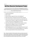 """Bull Run"" Character Development Project"