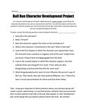 """Bull Run"" Character Development Project"