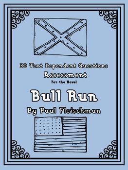 Bull Run Novel Assessment: 30 Text Dependent Questions