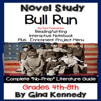 Bull Run Novel Study + Project Menu