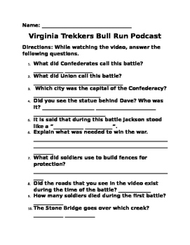 Bull Run Podcast Questions