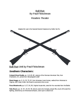 Bull Run by Paul Fleischman  Readers Theater
