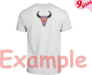 Bull Skull Cinco De Mayo Embroidery Design 4x4 5x7 hoop Fiesta Mexico 130b